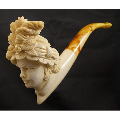 Lubinsky scolptured meerschaum pipe - Queen Anna